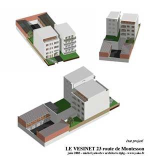 Etude de faisabilité pour un immeuble d'habitation au Vésinet