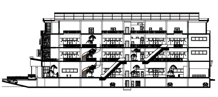 Pla de l'étage 3 et coupe2