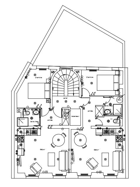 Plan des étages 1,2,3 et 4 EP