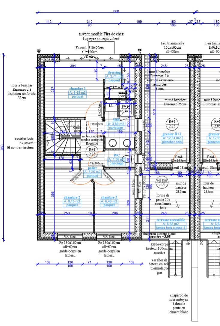 Plan  deux maisons 2