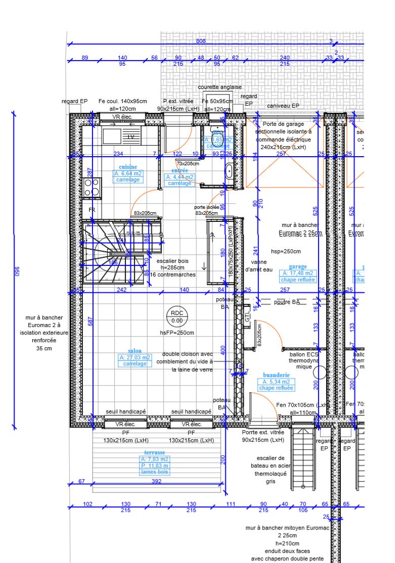 Plan  deux maisons