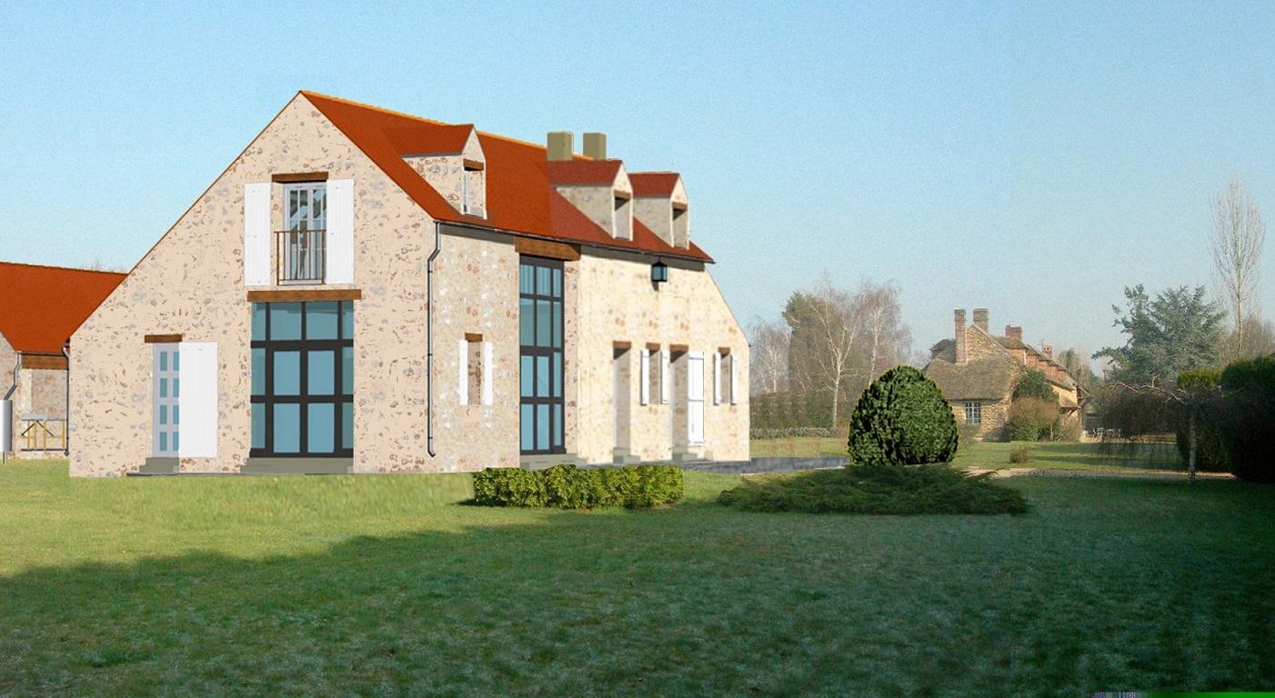 Image Principale - Réhabilitation d'une maison de maître à Bourdonne