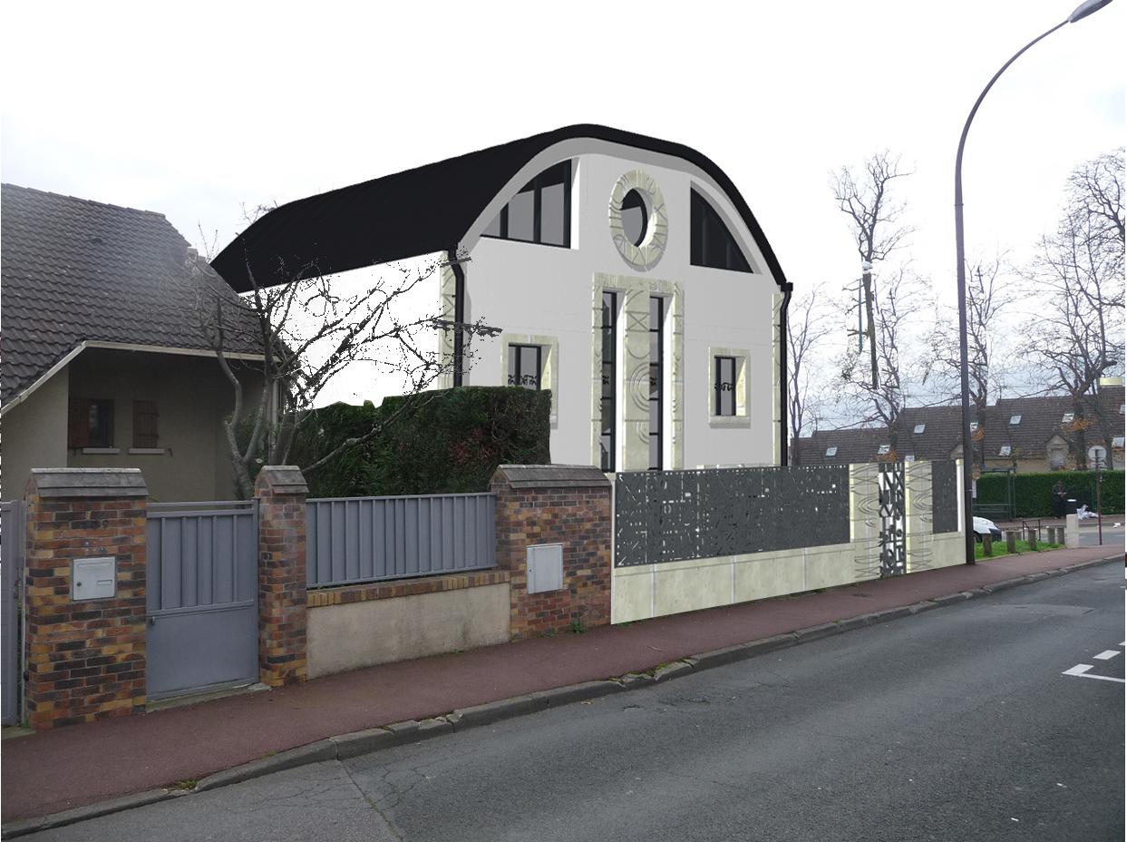 Image Principale - Esquisse pour une villa à Saint Cloud
