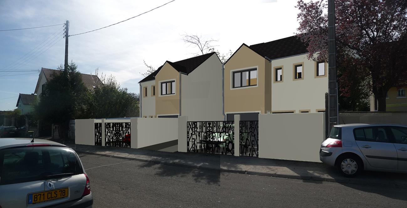 Image Principale - Maisons jumelles à Aubergenville