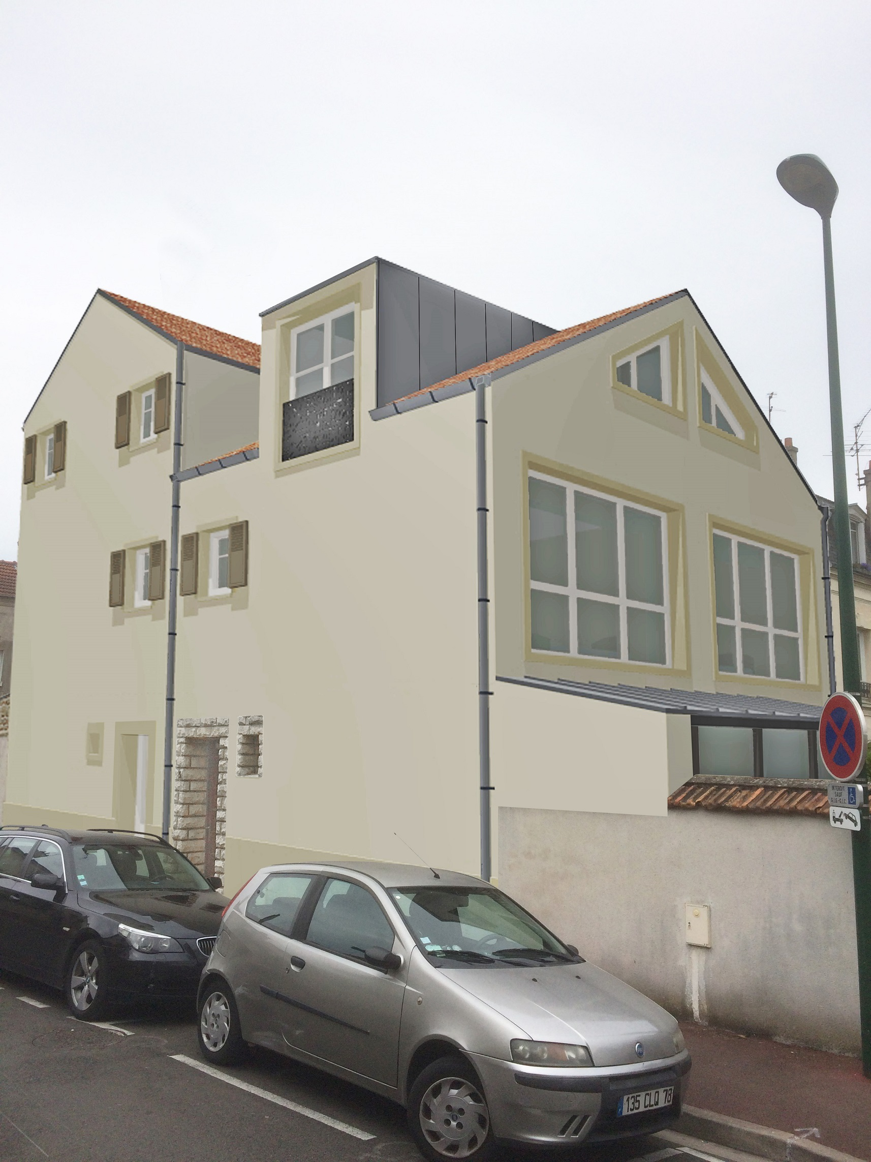 Image Principale - Surélevation d'une maison de ville à Croissy-sur Seine